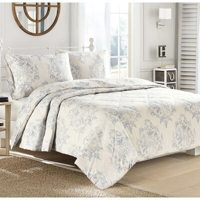 Medallion Flannel Down Alternative Comforter Size: King