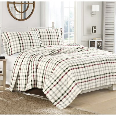 CrissCross Flannel Sheet Set Size: California King