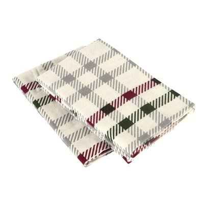 CrissCross Flannel Pillow Case Size: King