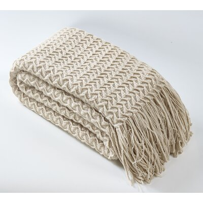 Winding Wave Throw Color: Ivory