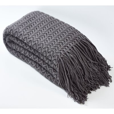 Winding Wave Throw Color: Gray