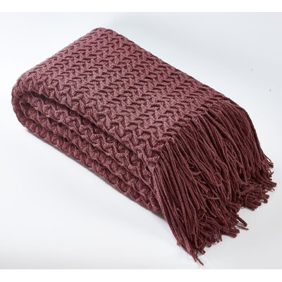 Winding Wave Throw Color: Deco Rose