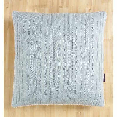 Cozy Cable Knit Throw Pillow Cover Color: Blue