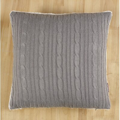 Cozy Cable Knit Throw Pillow Cover Color: Gray