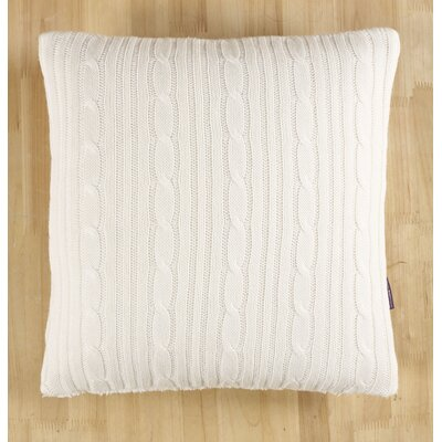 Cozy Cable Knit Throw Pillow Color: Ivory