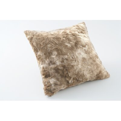 Nesting Faux Fur Throw Pillow Color: Alpine Swift