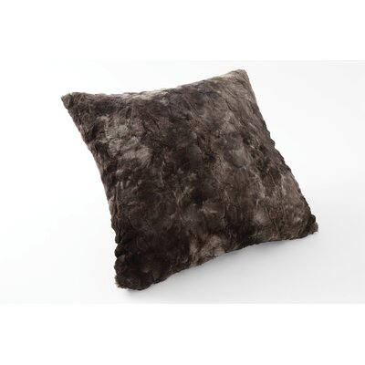 Nesting Faux Fur Throw Pillow Color: Tundra Swan