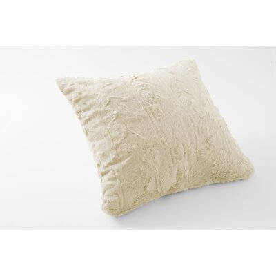 Nesting Faux Fur Throw Pillow Color: Snow Goose