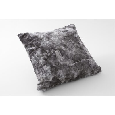 Nesting Faux Fur Throw Pillow Color: Starling