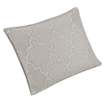 Casablanca Reversible Quilt Sham Size: King, Color: White/Seafoam