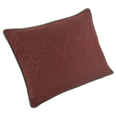 Casablanca Reversible Quilt Sham Size: Standard, Color: Russet Red/Gunmetal