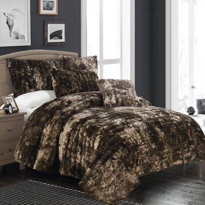 Nesting Faux Fur Throw Blanket Size: Full/Queen, Color: Tundra Swan