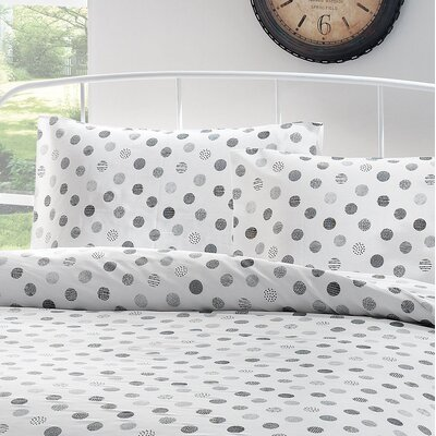 Circlet Cotton Sateen Pillowcase Size: King