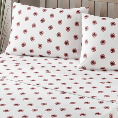 Pom Pom 100% Cotton Jersey Pillow Case Size: King