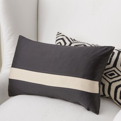 Stratosphere Lumbar Pillow Color: Black / Cream