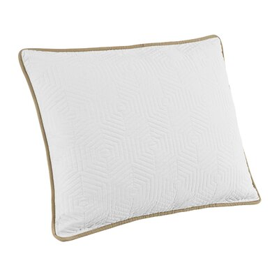Honeycomb Sham Size: King, Color: White/Linen