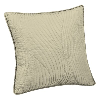Stream Embroidered Euro Sham Color: Ivory