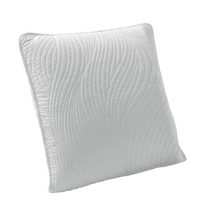 Stream Embroidered Euro Sham Color: White