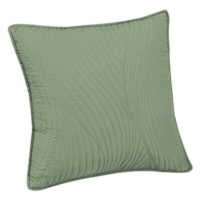 Stream Embroidered Euro Sham Color: Sage