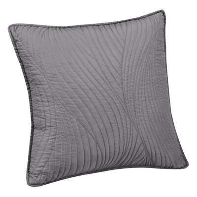 Stream Embroidered Euro Sham Color: Gray