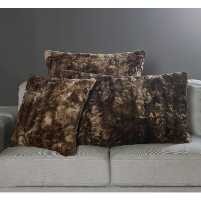 Nesting Faux Fur Pillow Case Size: 20 H x 40 W x 1 D, Color: Tundra Swan