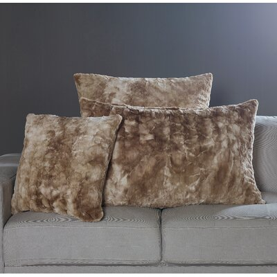 Nesting Faux Fur Pillow Case Size: 20 H x 40 W x 1 D, Color: Alpine Swift