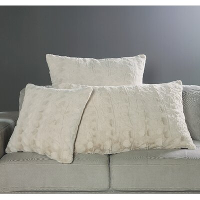 Nesting Faux Fur Decorative Pillow Cover Color: Snow Goose