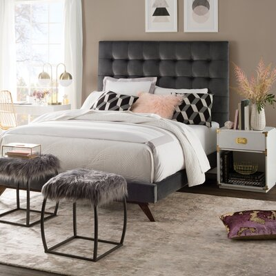 Courts Upholstered Platform Bed Size: Full, Color: Dark Gray