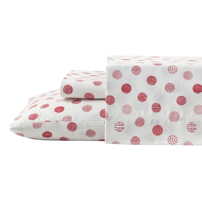 Circlets 100% Cotton Reversible Duvet Set Size: Full/Queen
