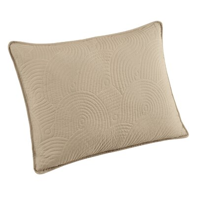Wave Sham Size: King, Color: Ivory/Linen