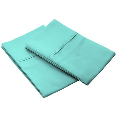 Tencel Pillow Case Size: King, Color: Aqua