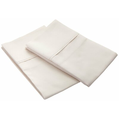 Tencel Pillow Case Size: King, Color: Ivory