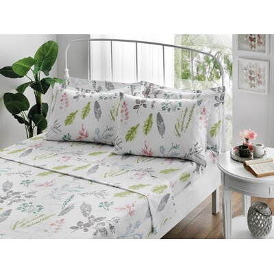 Gardenia 100% Cotton Sheet Set Size: Queen