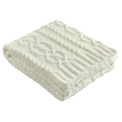 Chenille Braid Throw Color: White