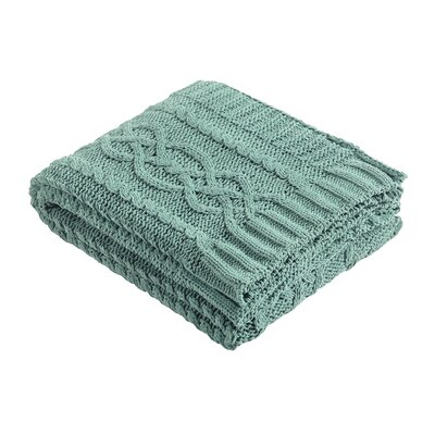 Chenille Braid Throw Color: Seaglass