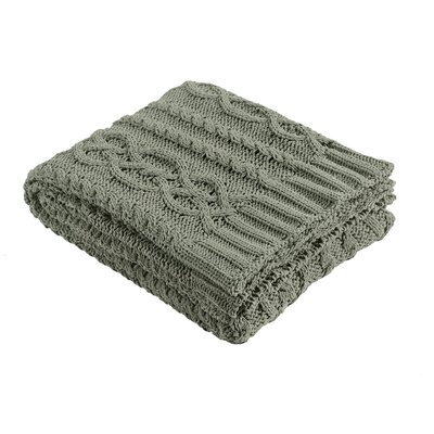 Chenille Braid Throw Color: Gray