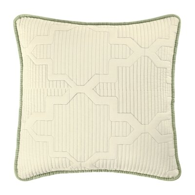 Casablanca Reversible Square Throw Pillow Color: Ivory/Sage