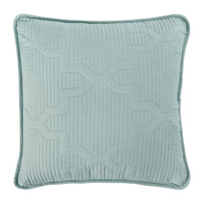 Casablanca Reversible Square Throw Pillow Color: White/Seafoam