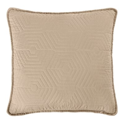 Honeycomb Reversible Throw Pillow Color: White/Linen