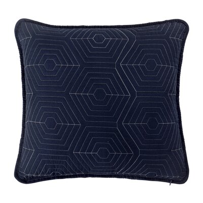 Honeycomb Reversible Throw Pillow Color: Navy/Grey