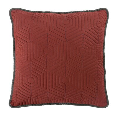 Honeycomb Reversible Throw Pillow Color: Russet Red/Dark Grey