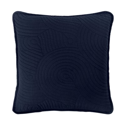 Wave Throw Pillow Color: Navy/White