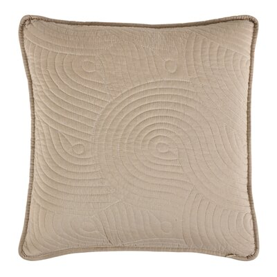 Wave Throw Pillow Color: Ivory/Linen