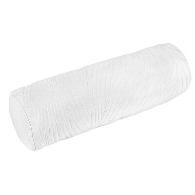 Stream 100% Cotton Bolster Pillow Color: White
