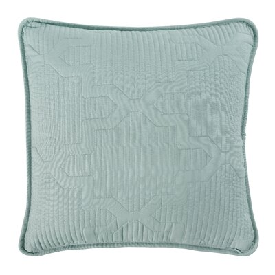 Casablanca Embroidered Euro Sham Color: White/Seafoam