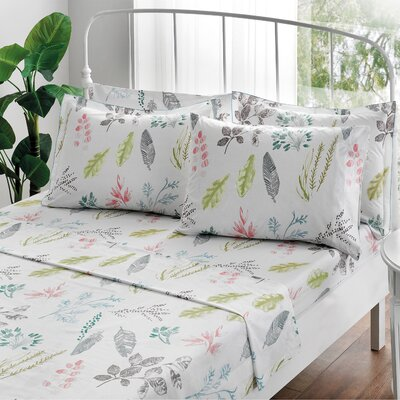 Gardenia Percale Sheet Set Size: Cal-King