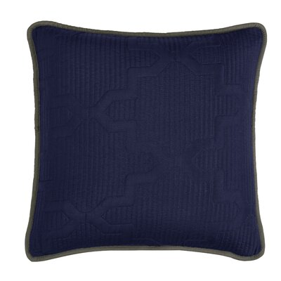 Casablanca Reversible Square Throw Pillow Color: Navy/Dark Gray