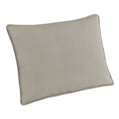 Wave Sham Size: King, Color: Gray