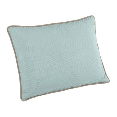 Wave Sham Size: Standard, Color: Seafoam
