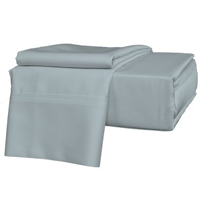 Egyptian Quality Cotton Sateen Premium 600 Plus TC Pillow Case Size: King, Color: Light Blue